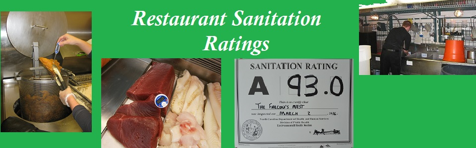 Images of restaurant items to link to restaurant sanitation grades page.