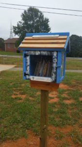 Little Free Library in Slade Park in Elon