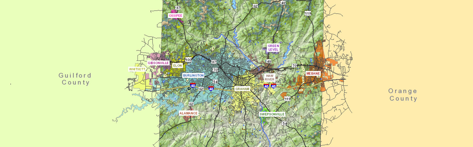 GIS View of Alamance County