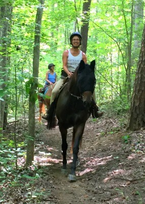 photo of horseback riders on equestrian trail
