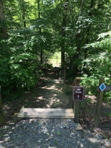 photo of entrance to trails at Great Bend Park