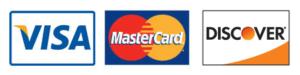 Credit Card Logos - Visa Mastercard Discover