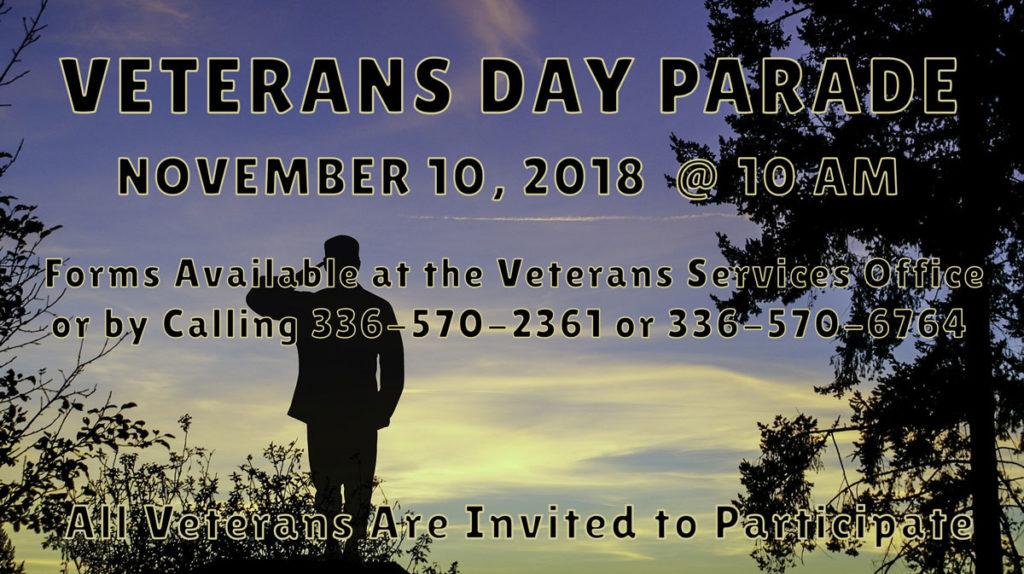 Veterans Parade 2018 Ad